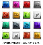 musical web icons in square... | Shutterstock .eps vector #1097241176