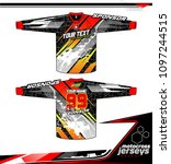 long sleeve motocross jerseys t ... | Shutterstock .eps vector #1097244515