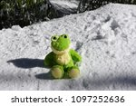 frog on the snow | Shutterstock . vector #1097252636