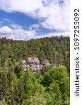 stony wall  elbsandsteingebirge | Shutterstock . vector #1097253092