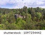 stony rock landmark in the... | Shutterstock . vector #1097254442