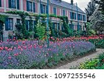 the house with spring display... | Shutterstock . vector #1097255546