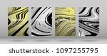 set of  covers with silver...   Shutterstock .eps vector #1097255795