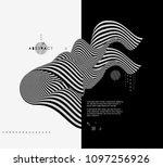 black and white design. pattern ... | Shutterstock .eps vector #1097256926