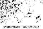 black musical notes on white... | Shutterstock .eps vector #1097258015