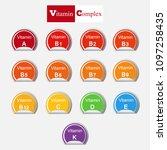 diet infographic poster. set of ... | Shutterstock .eps vector #1097258435