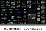 glitch elements set. computer... | Shutterstock .eps vector #1097261978