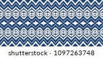 ikat seamless pattern. vector...   Shutterstock .eps vector #1097263748