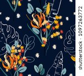 botanical motifs. floral...   Shutterstock .eps vector #1097263772