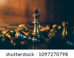 Small photo of Chess board game to represent the business strategy with competition in the world market. and find out the best solution to meet target objective and goal. Sign and symbol of challenging as concept.