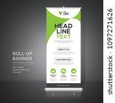 roll up banner design template  ... | Shutterstock .eps vector #1097271626