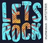rock vector type design with... | Shutterstock .eps vector #1097275505
