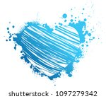 beautiful grunge blue heart... | Shutterstock . vector #1097279342