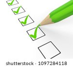 checklist with pencil...   Shutterstock . vector #1097284118