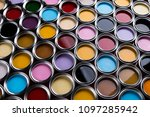 color palette  can background | Shutterstock . vector #1097285942