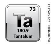 tantalum symbol.chemical... | Shutterstock .eps vector #1097291585