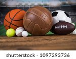 assorted sports equipment | Shutterstock . vector #1097293736