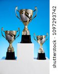 cups of winners award on white... | Shutterstock . vector #1097293742