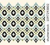 ikat seamless border print.... | Shutterstock .eps vector #1097293802
