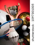 achievement trophy  winning... | Shutterstock . vector #1097301005