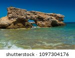 rocky coast. beach in greece.... | Shutterstock . vector #1097304176