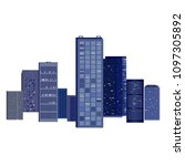 cityscape background with... | Shutterstock .eps vector #1097305892