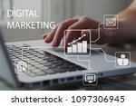 digital marketing concept.... | Shutterstock . vector #1097306945