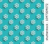 blue paper floral pattern | Shutterstock .eps vector #1097309072