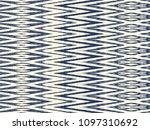 ikat seamless pattern. vector... | Shutterstock .eps vector #1097310692
