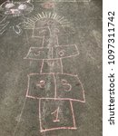 Children's Drawings Chalk On...