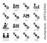 set of 16 simple editable icons ...   Shutterstock .eps vector #1097313965