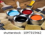 painting tools and accessories... | Shutterstock . vector #1097315462