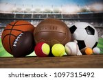 balls  sports equipment | Shutterstock . vector #1097315492