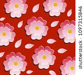 beautiful repeating floral... | Shutterstock .eps vector #1097315846