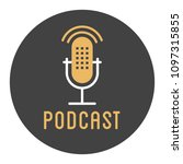 podcast radio icon illustration ... | Shutterstock .eps vector #1097315855