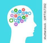 human head with gears. head... | Shutterstock .eps vector #1097317202