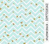 gold heart seamless pattern....   Shutterstock .eps vector #1097318162