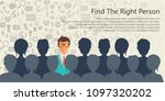 find the right person for the... | Shutterstock .eps vector #1097320202