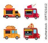 food van vector collection | Shutterstock .eps vector #1097321612
