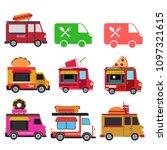 food van vector collection | Shutterstock .eps vector #1097321615