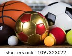 sport equipment  soccer tennis... | Shutterstock . vector #1097323022