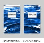 set of vector business card... | Shutterstock .eps vector #1097345042