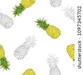 seamless pattern drawing... | Shutterstock .eps vector #1097345702