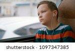 close up shot of a young boy... | Shutterstock . vector #1097347385