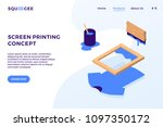 screen printing isometric... | Shutterstock .eps vector #1097350172