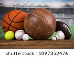 sport equipment  soccer tennis... | Shutterstock . vector #1097352476