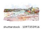 edinburgh castle is a historic... | Shutterstock .eps vector #1097353916