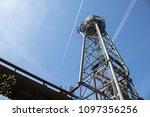 steel water tower | Shutterstock . vector #1097356256