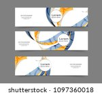 set of abstract web banner... | Shutterstock .eps vector #1097360018