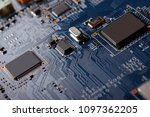 electronic circuit board close... | Shutterstock . vector #1097362205